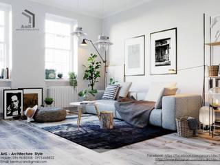 AnS - Architecture Style Ruang Keluarga Gaya Skandinavia