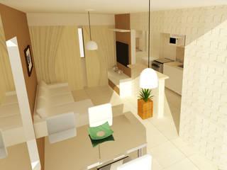 Projeto de interior: Salas de estar  por AGV Construtora e Arquitetura,Moderno