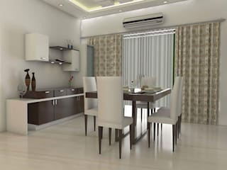 Design ideas for My Home Vihanga:  Dining room by URBAN HOSPEX INTERIORS