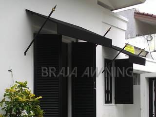 Braja Awning & Canopy Balkon, Veranda & TerrasseAccessoires und Dekoration Textil Schwarz