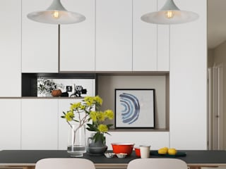 Salle à manger scandinave par 賀澤室內設計 HOZO_interior_design Scandinave
