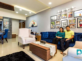 Palak and Vishal's- Residential Project:   by Design  Cafe