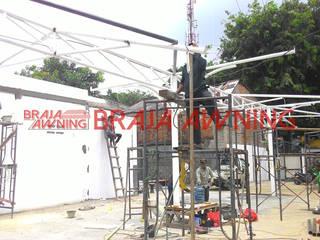 Braja Awning & Canopy GartenAccessoires und Dekoration Kunststoff Weiß