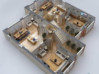Advantages of 3d Floor Plan Rendering by 3DFUSIONEDGE Modern