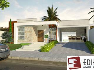 Residencia Florais 115 M²: Casas familiares  por Edifica Arquitetura e Design