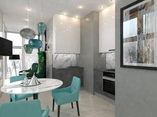 Nhà bếp theo Студия NATALYA SOLNTSEVA Interiors Design, Tối giản