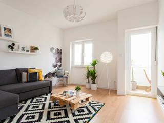 Remodelação de T2 para Airbnb Salas de estar modernas por MP Architecture & Interior Design Moderno