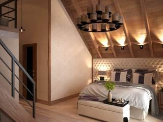 Спальная загородного дома : Спальни в . Автор – ivonindesign