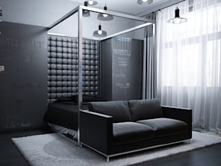 Брутальная комната: Спальни в . Автор – ivonindesign