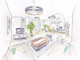 Wohnraumplanung: modern  von Atelier Feynsinn | Innenarchitektur,Modern