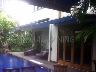 Braja Awning & Canopy Balkon, Veranda & TerrasseAccessoires und Dekoration Textil Blau