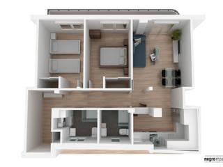 Reforma de piso en Pacífico - Madrid de negroimpar   laboratorio creativo Moderno