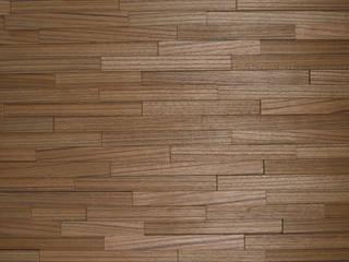 Wallure Striped - Teak - Narrow - Sleek - Natural Wooden Wall Panel:   by Wallure