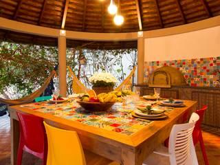 Espaço Gourmet Colorido por IZI HOME Interiores Campestre