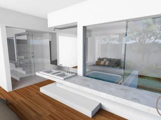 CASA ALCRIST: Quartos  por Gislene Soeiro Arquitetura e Interiores