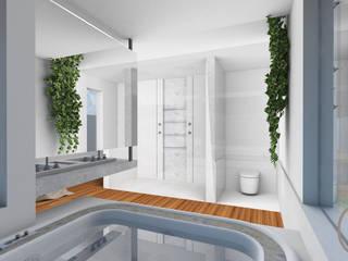 CASA ALCRIST: Spas  por Gislene Soeiro Arquitetura e Interiores
