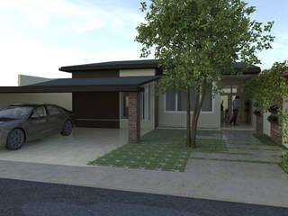 Casa D21: Casas familiares  por Kamila Andrade - Arquiteta e Urbanista