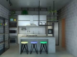 Cozinha Industrial : Armários e bancadas de cozinha  por Kamila Andrade - Arquiteta e Urbanista