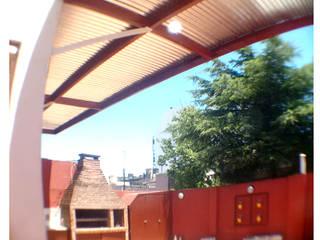 Parasol en una Terraza de Buenos Aires de KorteSa arquitectura