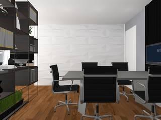 ESCRITÓRIO DE ADVOCACIA 52 m²: Espaços comerciais  por Atelier A4 - Design de Interiores,Industrial