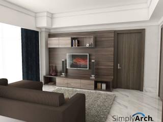 A-Apartment at Botanica Apartment, Simprug - South Jakarta: Ruang Keluarga oleh Simply Arch.,