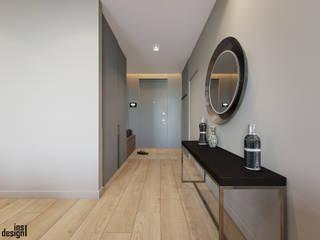 Pasillos, vestíbulos y escaleras de estilo minimalista de Y.F.architects Minimalista