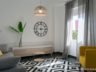 custom casa home staging Scandinavian style living room
