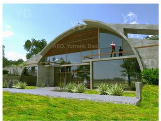 Vivienda bioclimática y sustentable para terreno rural. : Casas ecológicas de estilo  por Arq. Yofrank Diaz