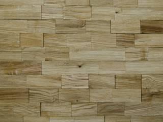 Wallure Striped - Oak - Wide - Split - Varnished Wooden Wall Panel:   by Wallure