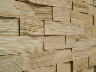 Wallure Striped - Oak - Wide - Split - Natural Wooden Wall Panel:   by Wallure