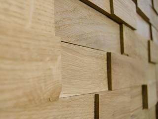 Wallure Striped - Oak - Wide - Sleek - Natural Wooden Wall Panel:   by Wallure