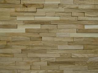 Wallure Striped - Oak - Narrow - Split - Varnished Wooden Wall Panel:   by Wallure