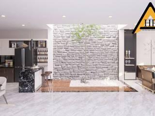 CTY KIẾN TRÚC VÀ NỘI THẤT HP-HOUSE Paredes y pisos de estilo moderno