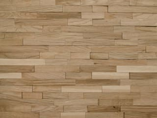 Wallure Striped - Oak - Narrow - Split - Natural Wooden Wall Panel:   by Wallure