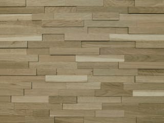 Wallure Striped - Oak - Narrow - Sleek - Natural Wooden Wall Panel:   by Wallure