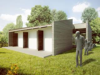 Modern Study Room and Home Office by PLANTA BAJA ESTUDIO DE ARQUITECTURA Modern