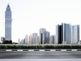 Architekturfotografie in Dubai für eine Imagebroschüre von Siemens. Architekturfotograf Peter Bajer Moderne Bürogebäude