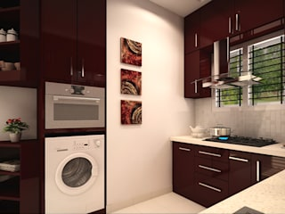 Modular Kitchen: minimalist  by themoonstudio,Minimalist