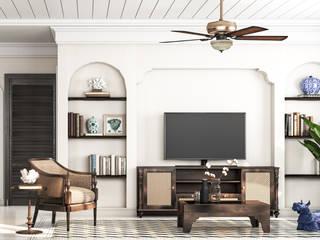 Wohnzimmer von V Design Studio, Kolonial
