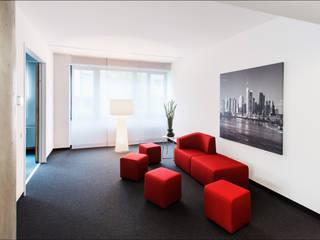 Architekturfotografie & Interieurfotografie für AGENDIS Business Center in Frankfurt. Architekturfotograf Peter Bajer Moderne Bürogebäude