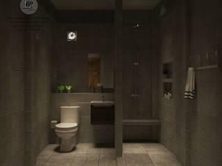 ห้องน้ำ:  ห้องน้ำ by sixty interior design & renovation