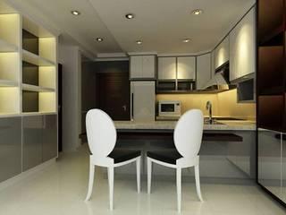 ตกแต่งภายใน คอนโดมิเนียม ขนาด 1 ห้องนอน:   by simply fine studio