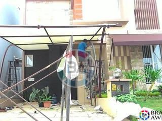 Braja Awning & Canopy Balkon, Veranda & TerrasseAccessoires und Dekoration Eisen/Stahl Braun