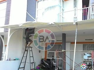 Braja Awning & Canopy Balkon, Veranda & TerrasseAccessoires und Dekoration Eisen/Stahl Weiß