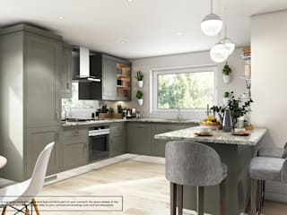 Longhouse Kitchen With Breakfast Area by Abodde Housing