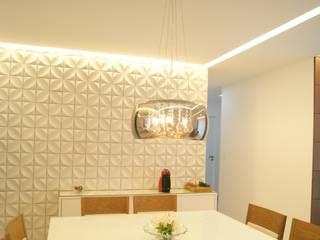 APARTAMENTO 88 m²: Salas de jantar  por Atelier A4 - Design de Interiores,Moderno