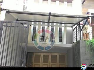Braja Awning & Canopy Balkon, Veranda & TerrasseAccessoires und Dekoration Eisen/Stahl Schwarz