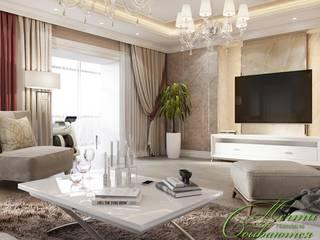 Salon moderne par Компания архитекторов Латышевых 'Мечты сбываются' Moderne