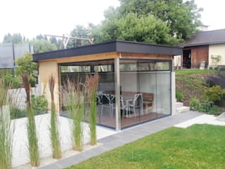 Modernes Gartenhaus Schmidinger Wintergärten, Fenster & Verglasungen Moderner Wintergarten Glas Grau