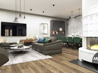 Modern Living Room by MONOstudio Modern
